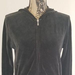 Gab  black hoodie zip up jacket